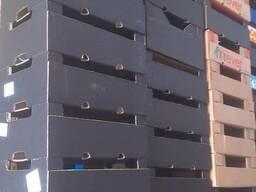 Ящик картонный под клубнику, персик.