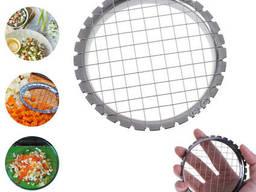 Яйцерезка-салаторезка металлическая усиленная для нарезки кубиками яиц, овощей. ..