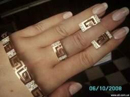 Ювелирные украшения из серебра с золотом опт и розница