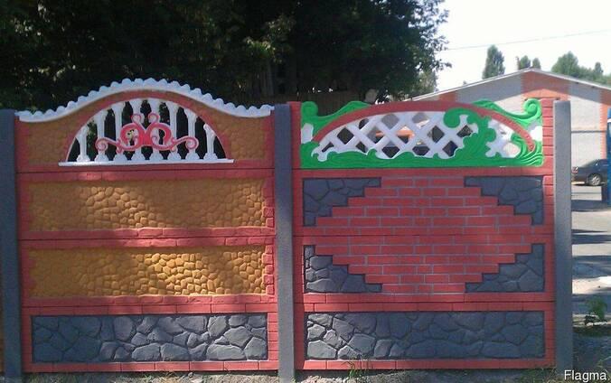 Забор бетонный наборной