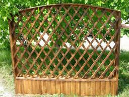 Забор деревянный 2000х1500 мм