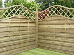 Забор деревянный декоративный арочный от производителя