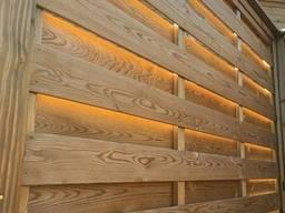 Забор деревянный из твердых пород дерева ( ясень, граб, дуб)