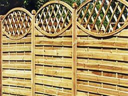 Забор деревянный с овалом. Под заказ. Код: ДО-3