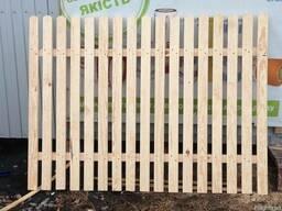 Забор деревянный Секции штакетные