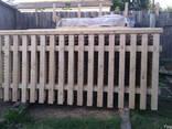 Забор деревянный сосновый - фото 2