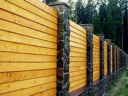 Забор деревянный сплошной