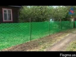 Забор из пластиковой сетки (садовая решетка) для сада и дачи