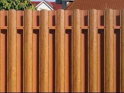 Забор из штакета и профнастила, ворота, калитки