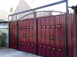 Заборы из профнастила, кованые, ворота, заборы, сварочные ра