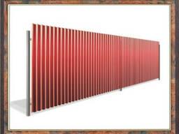 Забор из профнастила, профлиста, профиля, металлопрофиля