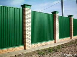 Забор із профнастила. Виготовлення і монтаж.