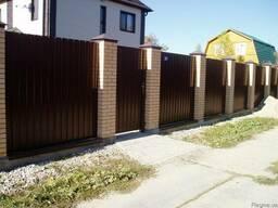 Забор из профнастила, ворота. Монтаж, установка, замена.