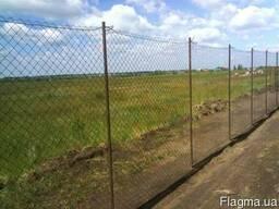 Забор из сетки-рабицы Одесса