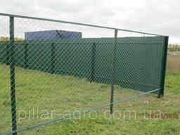 Забор из сетки рабицы (установка) под ключ