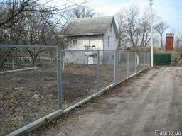 Забор из сетки рабицы в Киеве, цена забора из сетки рабицы