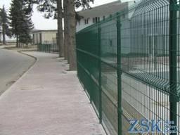 Забор из сварной сетки 3D, секционное ограждения