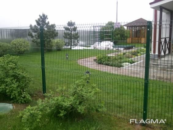 Забор из Сварной Сетки Рубеж Монтаж Одесса и область