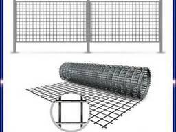 Забор из сварной сетки -оцинкованной металлической/стальной