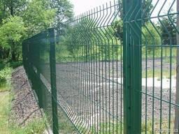 Забор из сварной сетки , профнастила , сетки рабицы. Ворота.