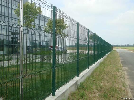 """Забор из сварной сетки , """"РУБЕЖ"""" с полимерным покрытием"""