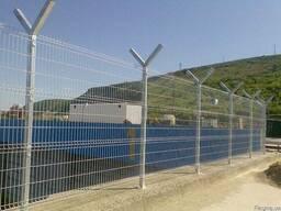 Забор из сварной сетки с повышенной степенью защиты от прони