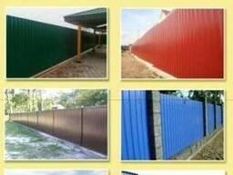 Забор металлический, ворота усадебные