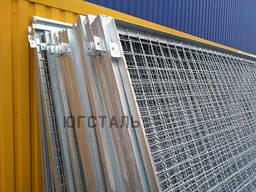 Забор оцинкованный (секции) из канилированной рифленой сетки