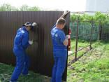 Монтаж забора из профнастила, сетки, штакетника Ворота - фото 6