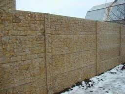 Забор с гранитной крошки, гранитный забор