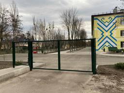 Забор секционный, ворота, калитки
