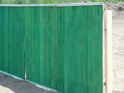 Забор строительный, временный забор.