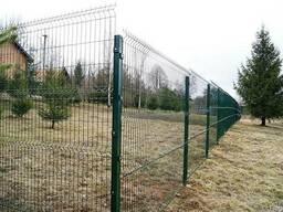 Забор из сварной сетки в полимере и ПВХ