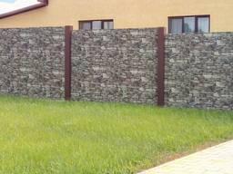 Забор, ворота, калитка, из профлиста, навес - фото 6