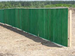 Забор временный для стройки. Установка.