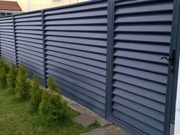 Забор под ключ из Профнастила Сетки Жалюзи Ворота Калитка