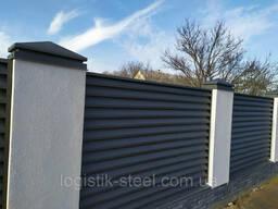 "Забор Жалюзи металлический тип ""Smart"" (Смарт 40/120 мм) одностороннее, двухстороннее. .."