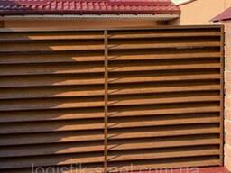 """Забор Жалюзи металлический тип """"Standart"""" (Стандарт 60/100мм) однослойное, двухслойное. .."""