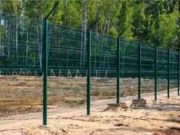 Заборная сетка с ППЛ d 4мм L 2,5*H1,53м