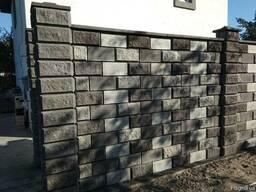 Заборный блок рваный камень