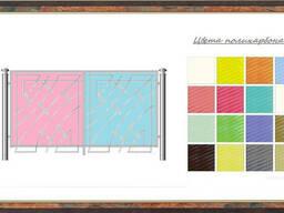 Заборы и газонные ограждения из поликарбоната любых цветов