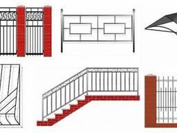 Заборы, ограждения, ворота, навесы изготовление, установка