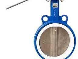 Задвижка Баттерфляй Ду 150 нержавеющий диск, PTFE MIV