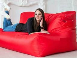 Безкаркасний диван зі спинкою червоний тканина оксфорд