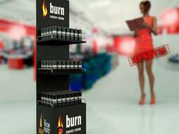 Заказать металлические рекламные торговые стойки Burn от...