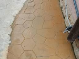 Заливка декоративного бетона