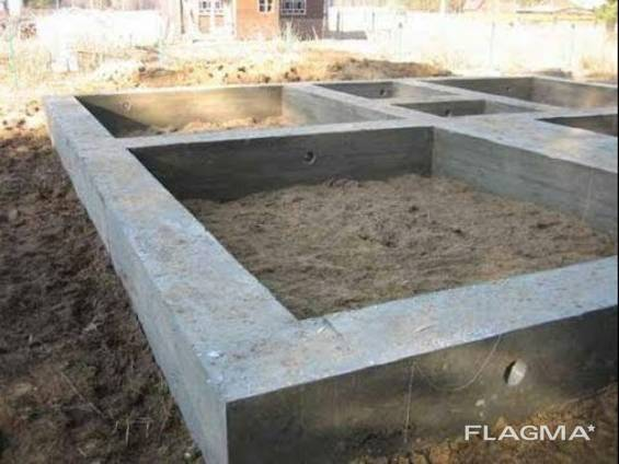 Заливка/строительство фундамента