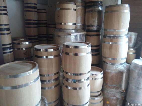 Заливные дубовые бочки для спиртного и кадки для соления