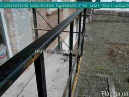 Замена перил. Усиление балкона. Укрепление плиты балкона.