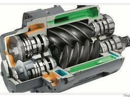 Замена ступени сжатия винтов винтового блока компрессора